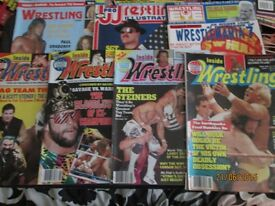 WRESTLING MAGAZINES X 7 FROM 1991 have more magazines for sale