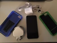 iPhone 5s 16GB Space Grey (with 2 Cases, 1 Apple Charger, 1 Extra Charger)