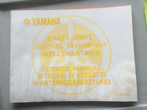 1978 Yamaha Shaft Drive Service Manual