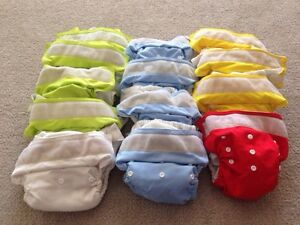 Large Lot of Cloth Diapers (33 total)
