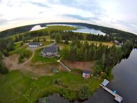 Fantastic Lake House with acerage in private bay on Ness Lake