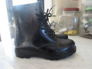 Ladies Size 7 Black Waterproof Doc Marten type Boots
