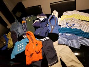 21 pieces of 6-9m boy clothes. Vêtements garçon