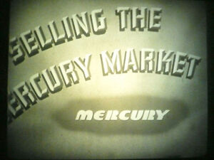 1939 Ford Dealership Mercury Training Filmstrip and Record