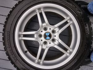 "18 ""BMW Rims & Yokohama Snow Tires"