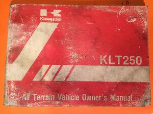 1983 Kawasaki KLt250 Owners Manual