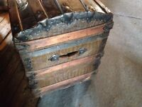 Antique round topped chest
