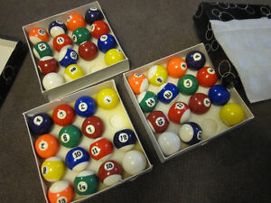 Billiard Balls - Traditional Sets ( Missing 8-Balls) - in Box Kitchener / Waterloo Kitchener Area image 7