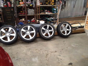 MINT LIKE NEW CAMARO RIMS AND TIRES 20IN