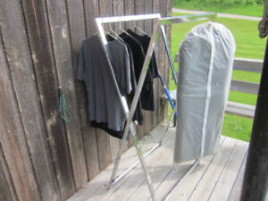 BRIGHT CHROME CLOTHING RACKS
