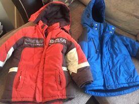 Boys winter coats x 3