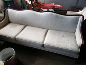 Antique couch, chair,table