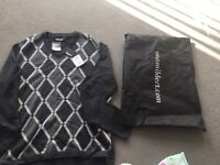 DKNY V-neck jumper with all original tags cost £235 unwanted gift XXL