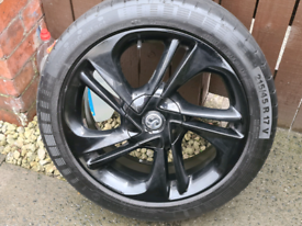 Vauxhall corsa spare wheel and tyre.
