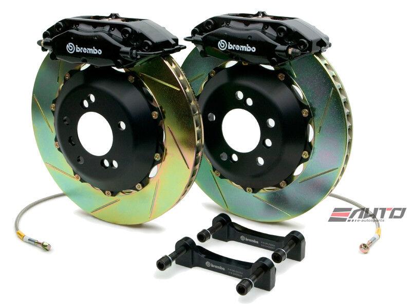 Brembo Rear Gt Big Brake Bbk 4piston Black 328x28 Slot Disc Bmw E36 M3 95-99