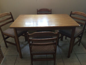 Dining Table with Chairs x 4