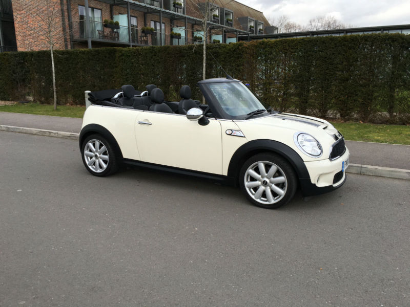 2010 White Mini Cooper S Convertible 1 6 36 000 Miles Chili Pack Leather Aux