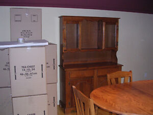 maple hutch and buffet in good condition
