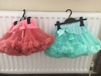 Little Girls frilly party tutus x2