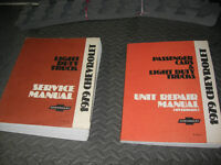 Set of 3 GM Shop Manuals for 1979 Chevrolet Light Duty Truck