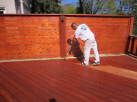 Deck staining/Repair,Power Wash&Staining Mississauga area ONLY