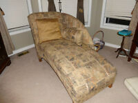 Chaise Lounge in gold tones