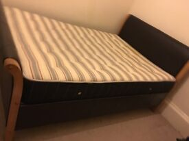 Used leather double bed farm & matters