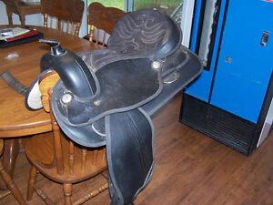 16in Seat Status Saddle...Synthetic...narrow tree...missing one