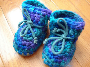 Padraig Baby booties hand made 100% wool