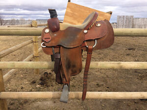 """14"""" Frontier 15X Roping Saddle"""