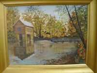 the Mill     ~19 1/2  X   15 1/2  inches     PAINTING