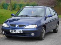 RENAULT MEGANE 1.4 PETROL £499 PX TO CLEAR BARGAIN