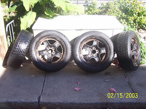 Set of 4 Steel rims with winter tires