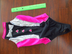 Child Pink and Black Tuxedo Swing Bathing Suit -BEST CONDITION