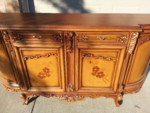 Two Piece Wood-crafted/ hand painted Hutch and Display Cabinet Windsor Region Ontario image 2