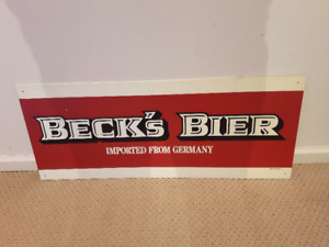 Beck's Bier Imported from Germany sign.