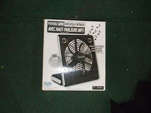 PORTABLE LUS INDOOR FAN WITH MP3 SPEAKERS brand new ipod USE