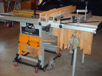 TABLE SAW PLUS ATTACHMENTS AND STAND