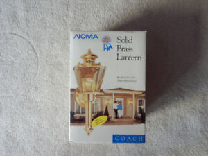 SOLID BRASS OUTDOOR COACH LAMP