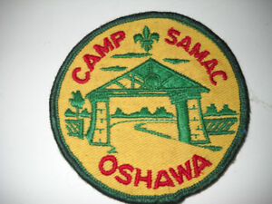 Collectible Cloth sew on patch from Camp Samac Oshawa.