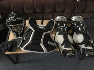 Adult size Rawlings Catcher's Gear