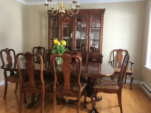 beautiful Canadian made solid cherry dining room set