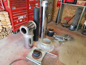 """6"""" SELKIRK CHIMNEY AND ACCESSORIES"""
