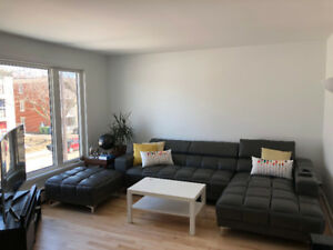Grand appartement 5 1/2, très lumineux et semi-meublé