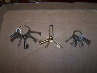 Antique skeleton keys / key rings