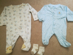 Warm fall/winter PREEMIE outfit and socks
