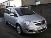 10 10 VAUXHALL ZAFIRA 1.8 16V VVT 5DR 7 SEATER LEATHER ALLOYS PRIVACY AC LOW INS