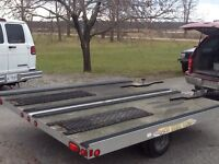 Extra width snowmobile trailer
