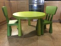 Children's table + 2 chairs