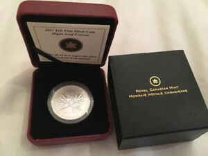 2011 Canada $10 maple leaf forever silver coin